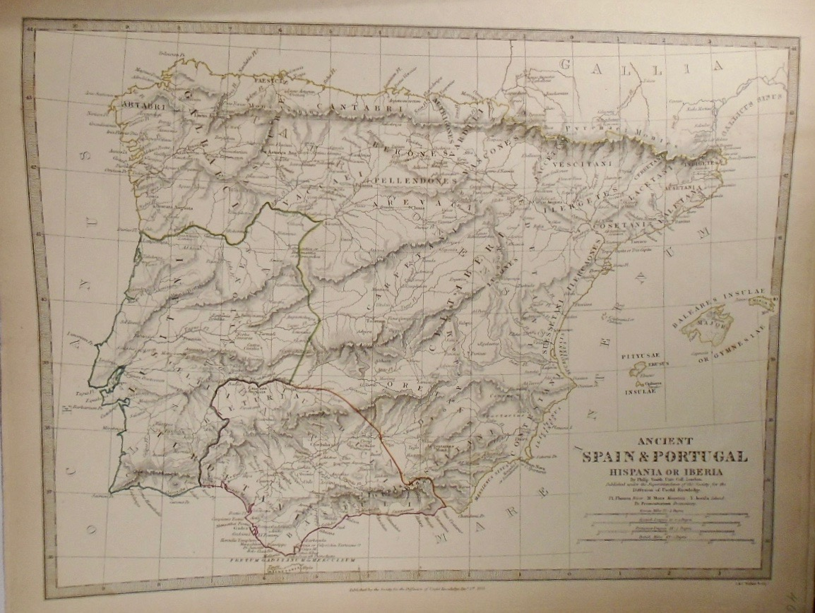 Map Of Ancient Spain And Portugal Philip Smith