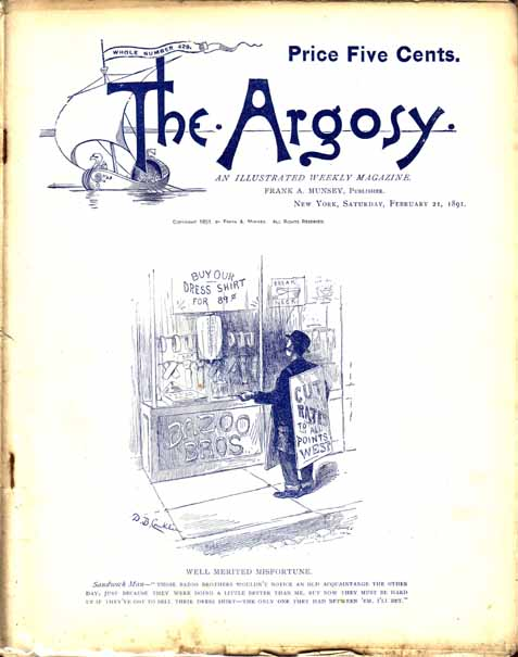 Digging For Gold. A Story of California, as printed in The Argosy [Magazine]. Horatio ALGER.