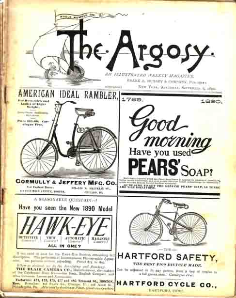 Tom Turner's Legacy as printed in The Argosy [Magazine]. Horatio ALGER