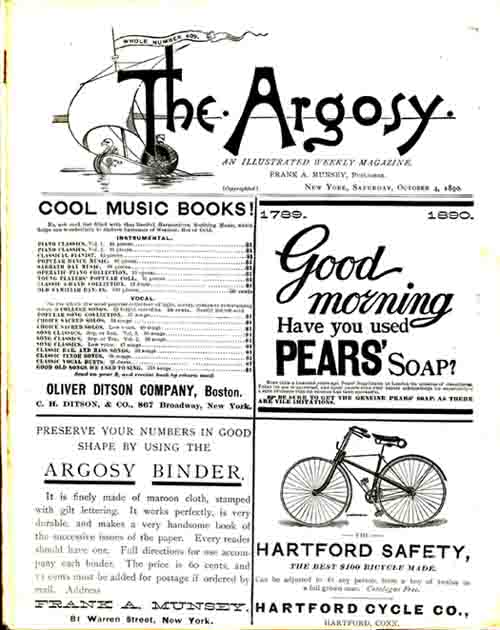 Walter Sherwood's Probation, A Story of Euclid College, as printed in The Argosy [Magazine]. Horatio ALGER.