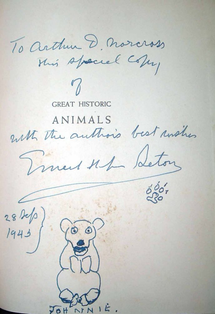 Great Historical Animals Mainly About Wolves. Ernest Thompson SETON