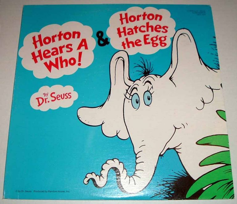 Horton Hears A Who And Horton Hatches The Egg. Record LP