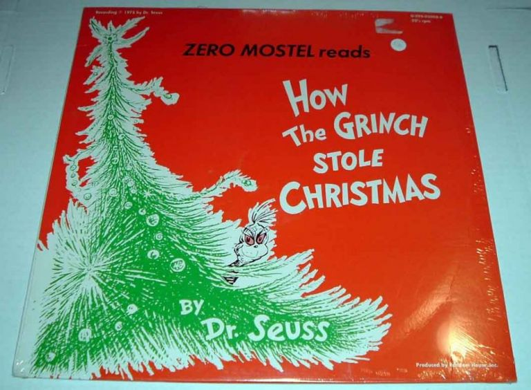 Zero Mostel reads How the Grinch Stole Christmas [Record LP]. SEUSS Dr.
