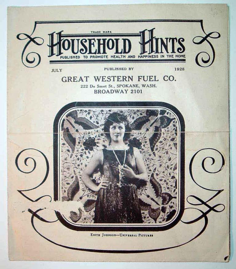 Household Hints [Magazine], Published to Promote Health and Happiness in the Home. Edith JOHNSON
