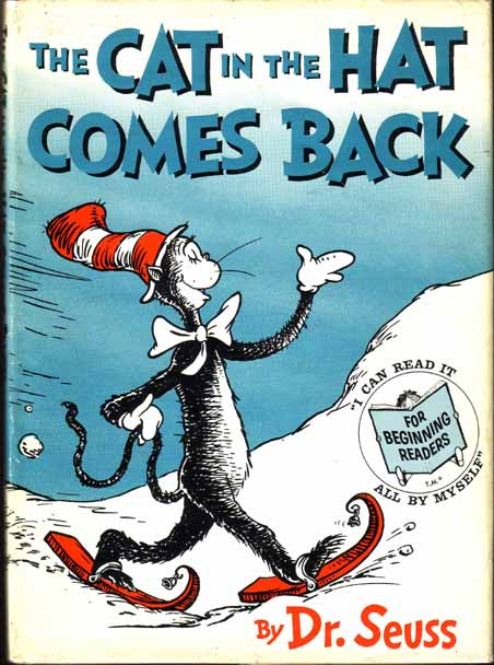 SEUSS Dr The Cat In Hat Comes Back New York Random House 1958