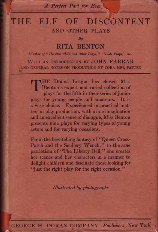 The Elf of Discontent and Other Plays. Rita BENTON.