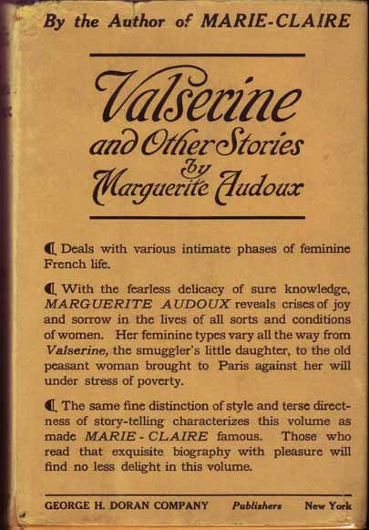 Valserine and Other Stories. Marguerite AUDOUX.