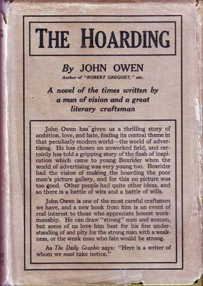 The Hoarding. John OWEN.