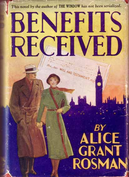 Benefits Received. Alice Grant ROSMAN