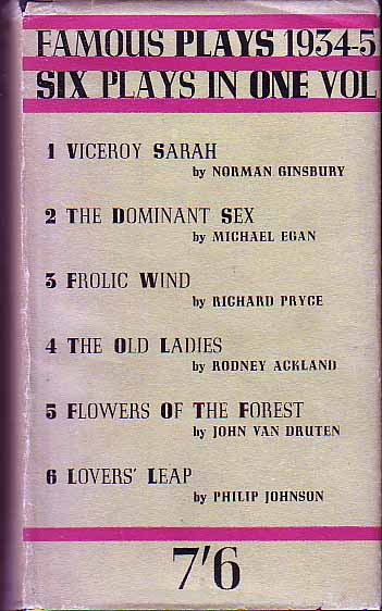 Famous Plays 1934-1935. Norman GINSBURY