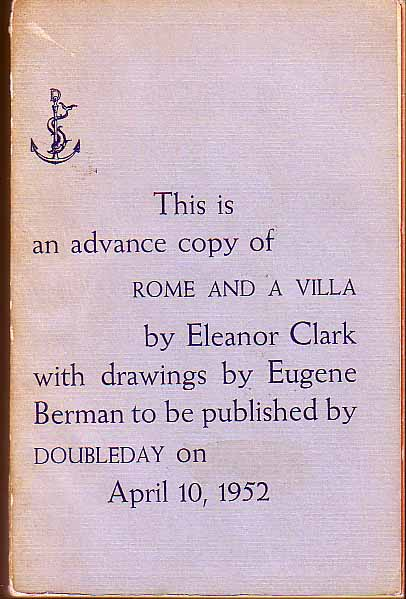 Rome and A Villa. Eleanor CLARK