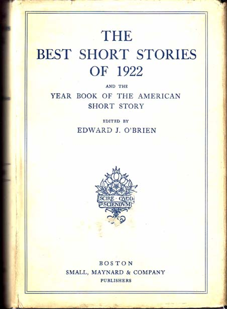 The Other Woman, as printed in The Best Short Stories of 1920. Sherwood ANDERSON