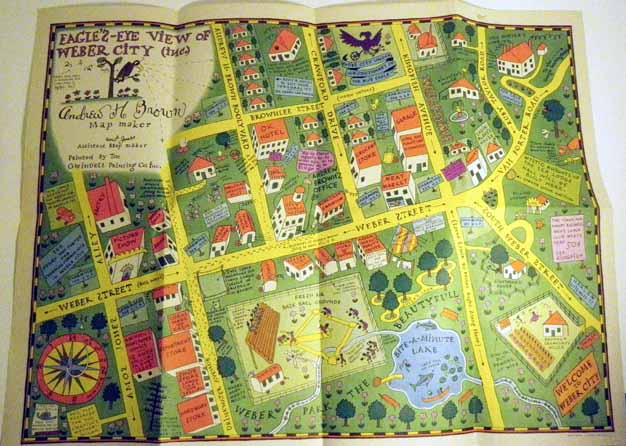 "Amos and Andy ""Eagle's-Eye View of Weber City (inc.)"" Map. Charles J. CORRELL, Freeman F. GOSDEN"