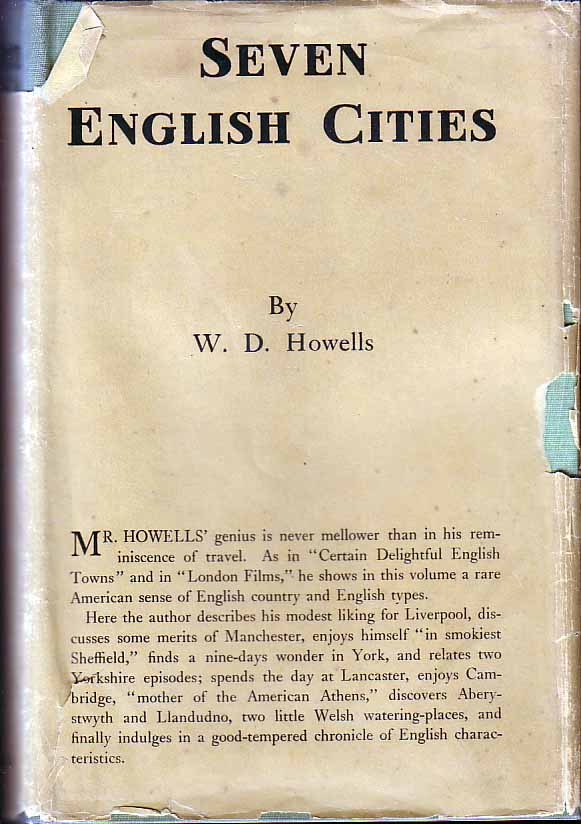 Seven English Cities. W. D. HOWELLS