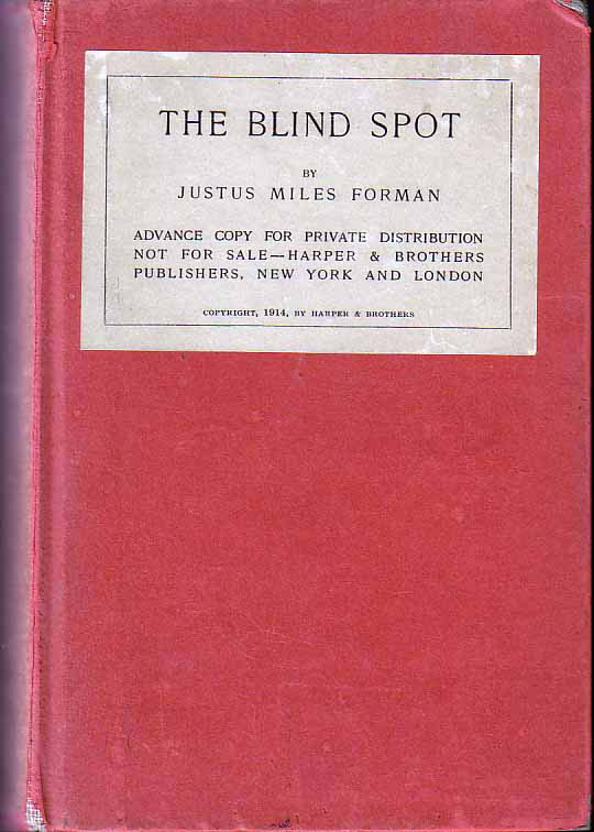 The Blind Spot. Justus Miles FORMAN