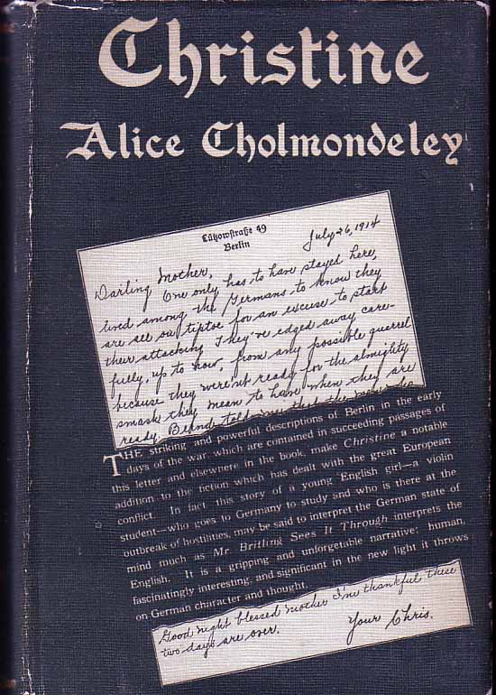 Christine. Alice CHOLMONDELEY