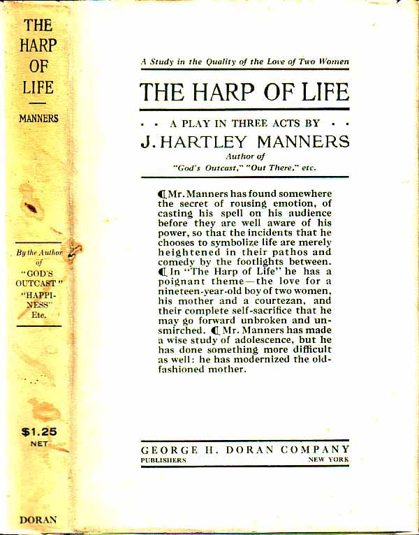 The Harp of Life. J. Hartley MANNERS