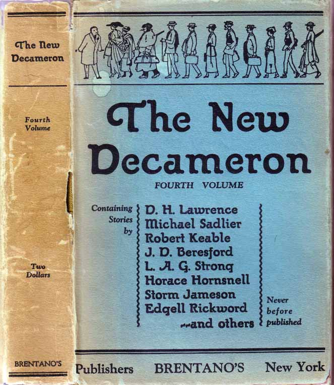 The New Decameron. D. H. LAWRENCE, BLAIR, Ed