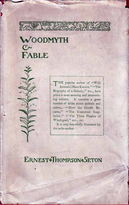 Woodmyth & Fable. Ernest Thompson SETON