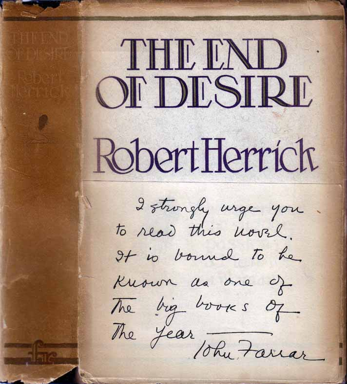 The End of Desire. Robert HERRICK