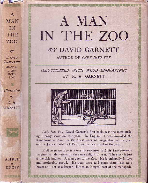 A Man in the Zoo. David GARNETT