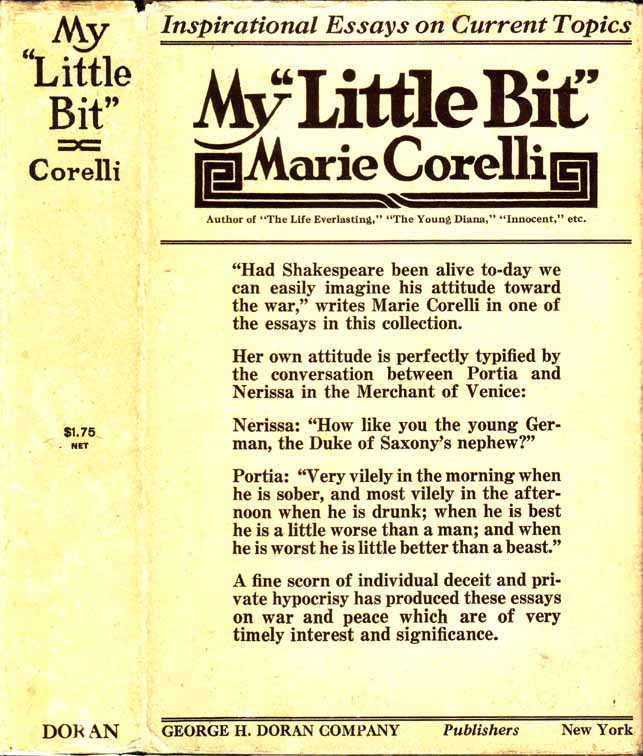 "My ""Little Bit"". Marie CORELLI"