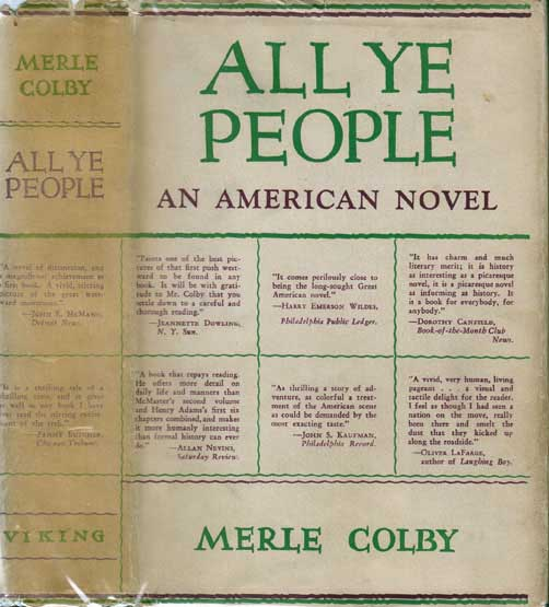 All Ye People. Merle COLBY