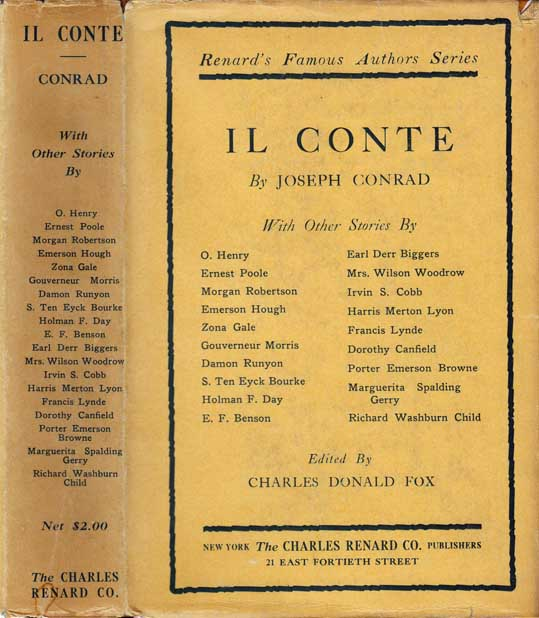 Il Conte, with Other Stories by Famous American Authors. Joseph CONRAD, Charles Donald FOX.
