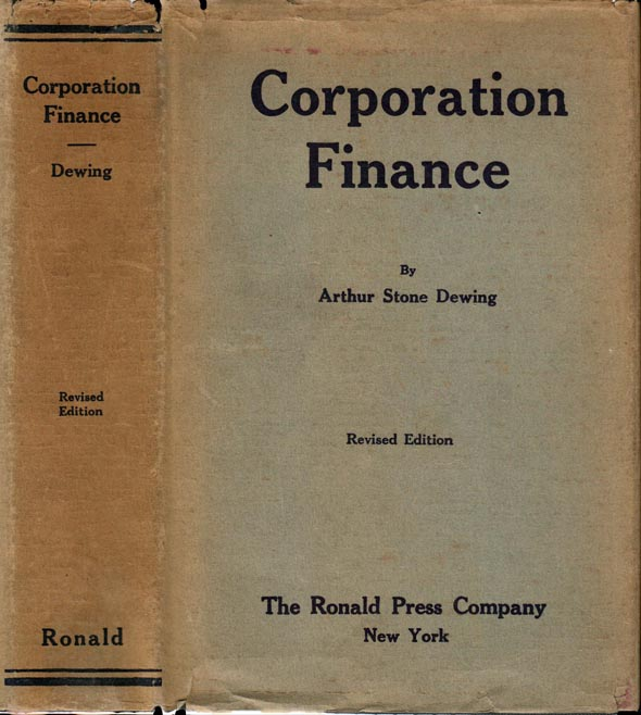 Corporation Finance. Arthur S. DEWING