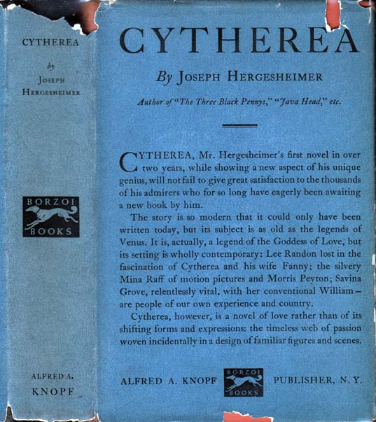 Cytherea. HOLLYWOOD, Joseph HERGESHEIMER
