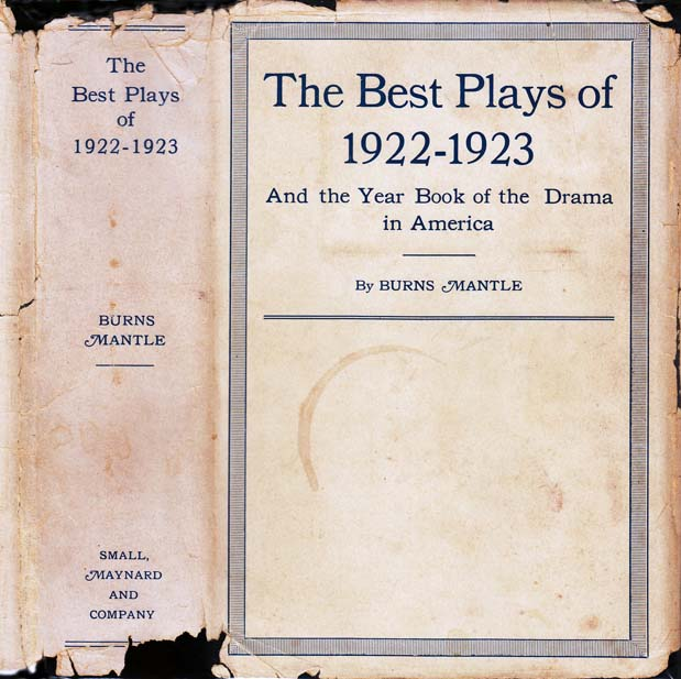 The Best Plays of 1922 - 1923. W. Somerset MAUGHAM, Burns MANTLE
