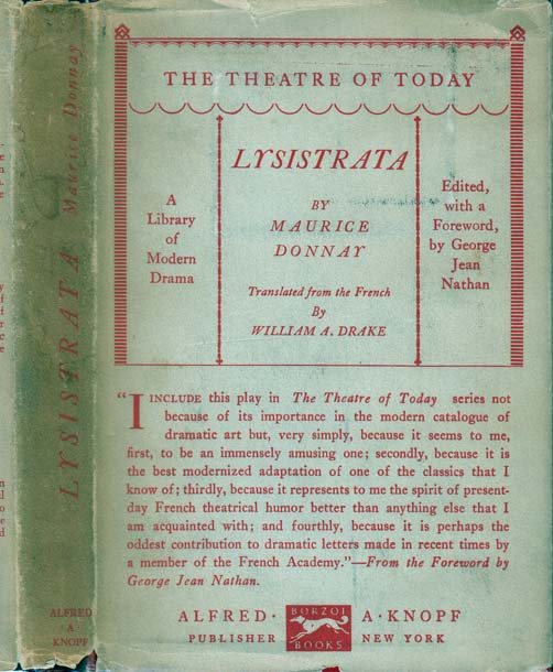 Lysistrata: A Comedy In Four Acts. Maurice DONNAY.
