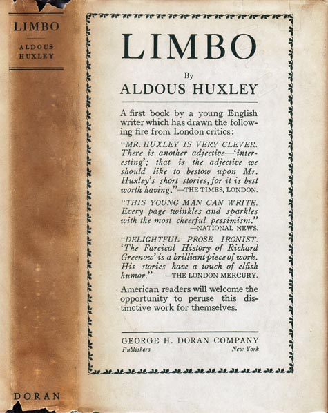 Limbo [FIRST FICTION]. Aldous HUXLEY.