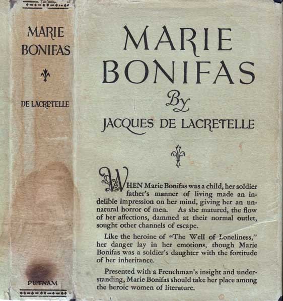 Marie Bonifas [LESBIAN FICTION]. Jacques DE LACRETELLE.