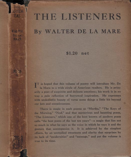 The Listeners and Other Poems. Walter DE LA MARE.