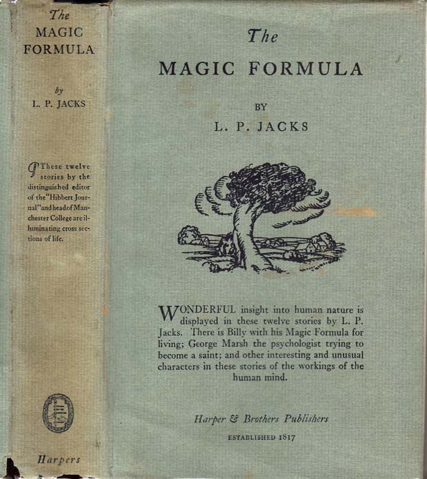 The Magic Formula and Other Stories. L. P. JACKS.