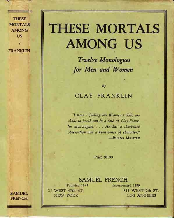 These Mortals Among Us [Signed]. Clay FRANKLIN