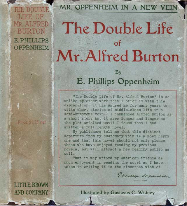 The Double Life of Mr. Alfred Burton. E. Phillips OPPENHEIM