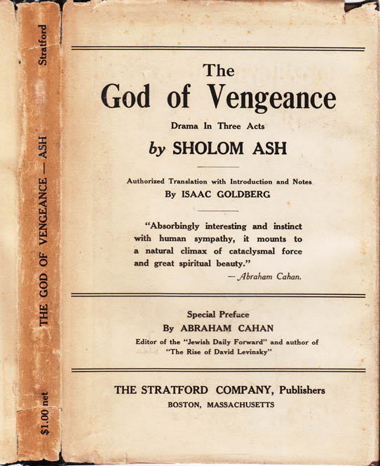 The God of Vengeance, Drama in Three Acts. Sholom ASH, Sholem ASCH.