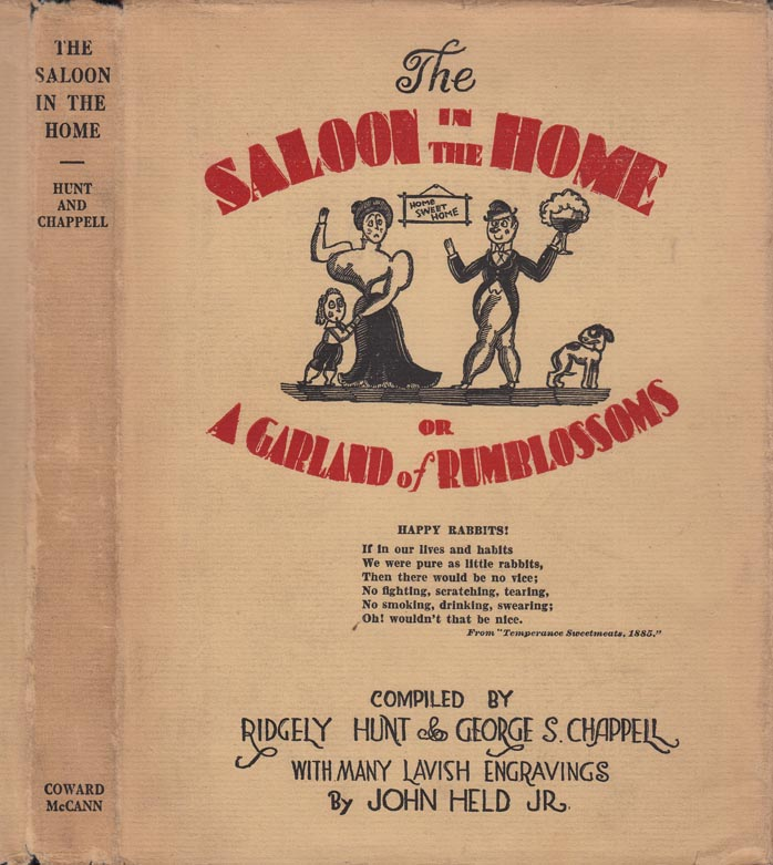 The Saloon in the Home or A Garland of Rumblossoms (COCKTAIL BOOK). Ridgely HUNT, George S....