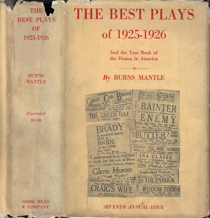 The Best Plays of 1925-1926. George KELLY, Burns MANTLE