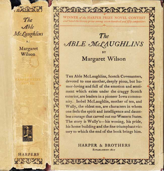 The Able McLaughlins. Margaret WILSON.