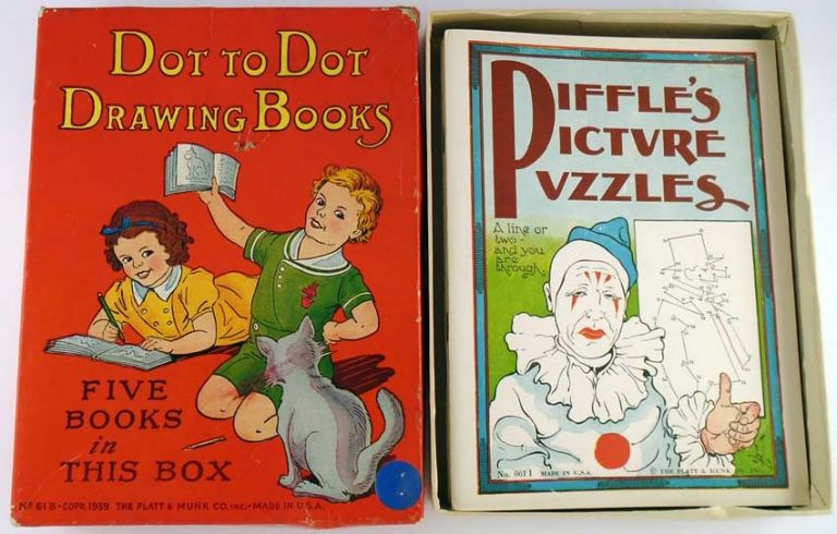 Dot to Dot Drawing Books, Five Books in This Box. ANONYMOUS.