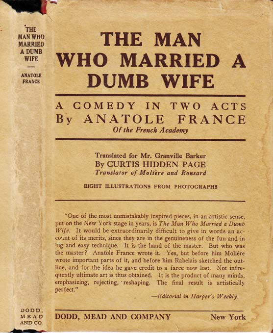 The Man Who Married A Dumb Wife. Anatole FRANCE