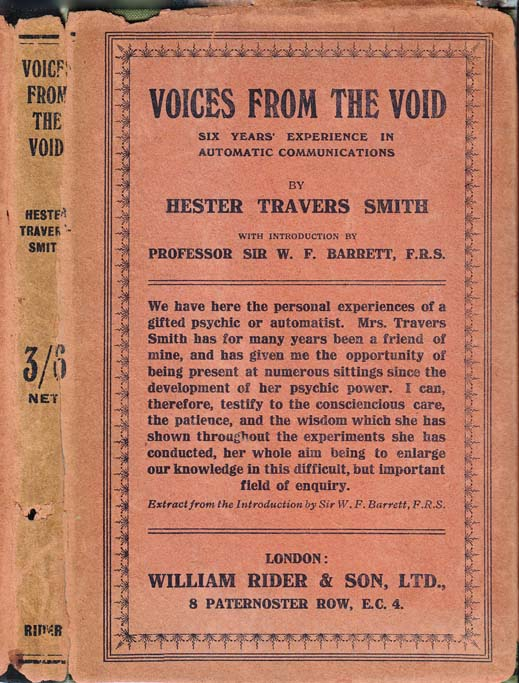 Voices From The Void Six Years Experience In Automatic Communications London William Rider And Son Ltd 1919