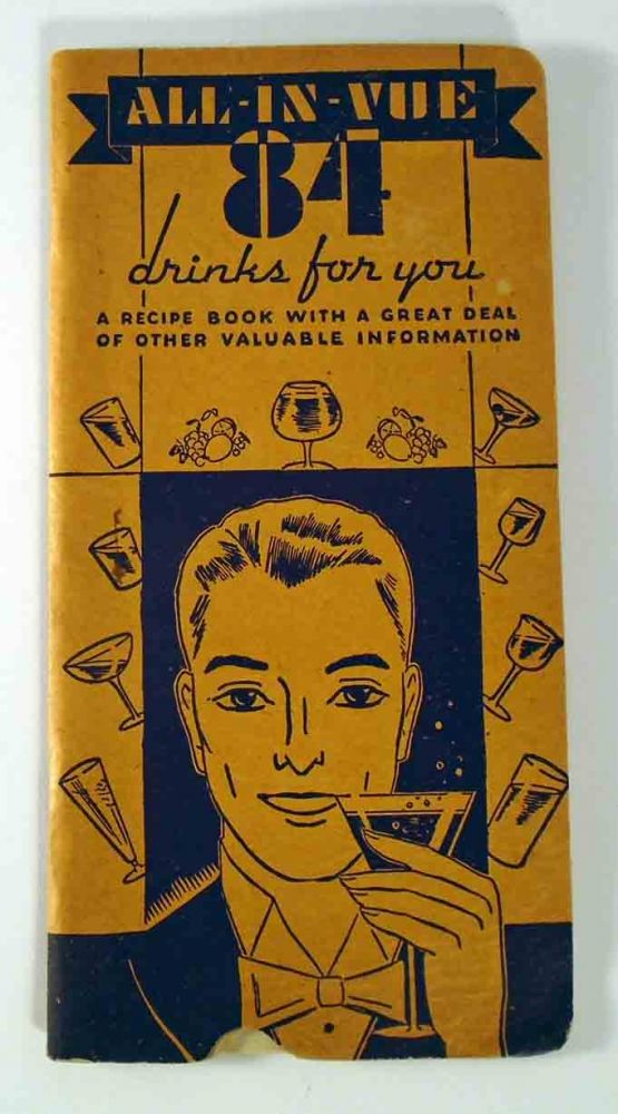 All-in-Vue 84 Drinks For You, A Recipe Book. John T. FITZGERALD