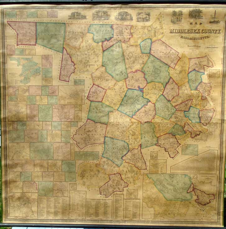 Map of Middlesex County, Massachusetts. Henry Francis WALLING