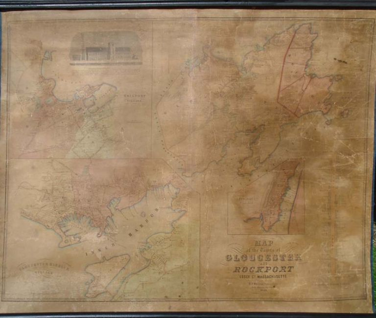 Map of the Towns of Gloucester and Rockport Essex Co. Massachusetts. Henry Francis WALLING