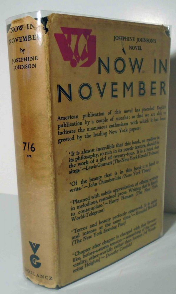 Now in November. Josephine Johnson