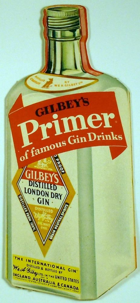 Gilbey's Primer of Famous Gin Drinks. COCKTAILS